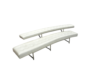 C Line Curved Bench with Backrest