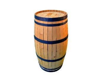 Wooden Barrel Cocktail Table