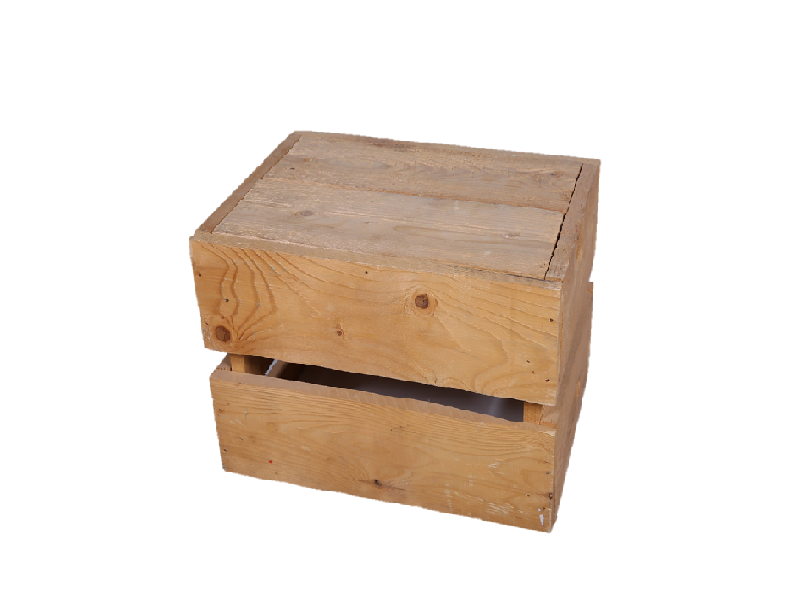 Crate Wooden Box Small Furniture Rental For Events In Uae