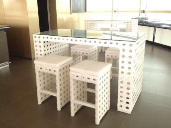 Wicker High Table