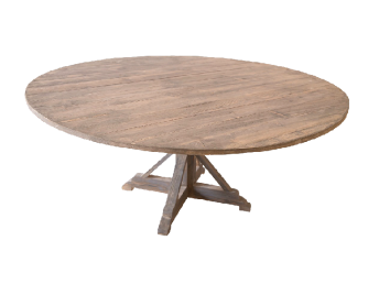 Grey Vintage Round Dining Table