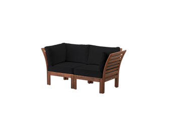 Casa W Two Seater Black